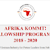 AFRIKA KOMMT! Fellowship Program 2018/2020