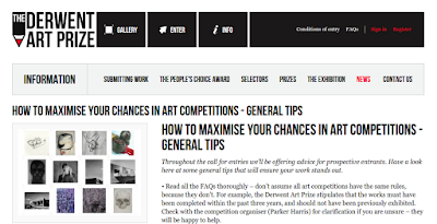 http://www.derwent-artprize.com/news/how-maximise-your-chances-art-competitions-general-tips