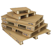 palettes de transport en carton recyclé, emballages, marchandises, du carton au meuble en carton !