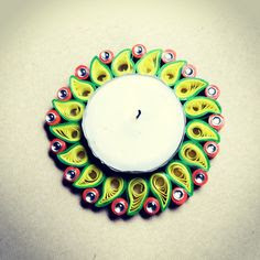 colorful Quilling Paper Diya Holder Collections 2016
