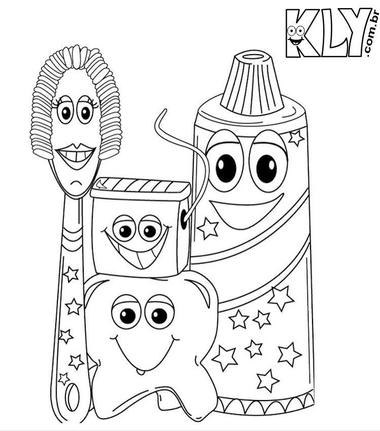Desenhos De Creme Dental Pasta De Dente Escova De Dente E Fio