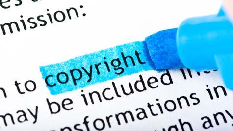 Copyright word image