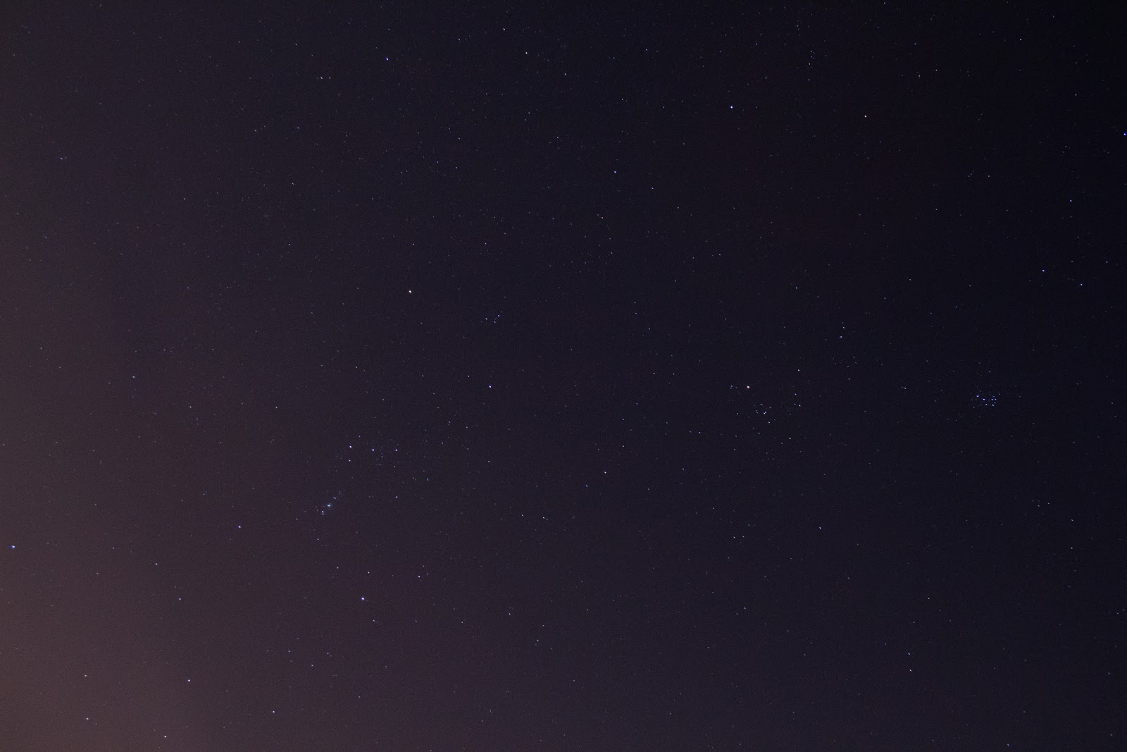 orion and other stars in the night sky
