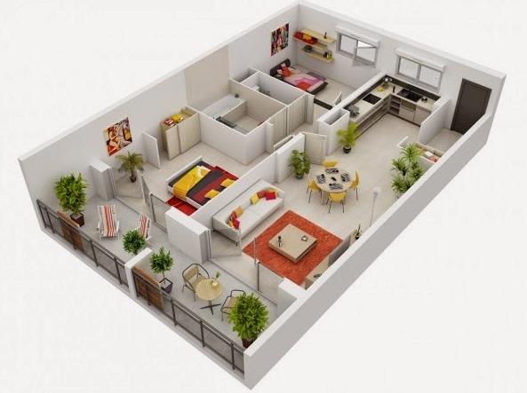 Gambar Denah Rumah Minimalis Terbaru Type  Gambar Denah Rumah Minimalis Terbaru Type 36