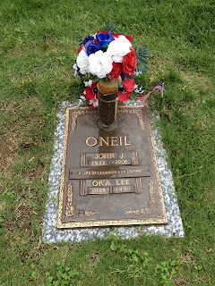 Buck and Oka Lee O'Neil Grave Marker - Kansas City