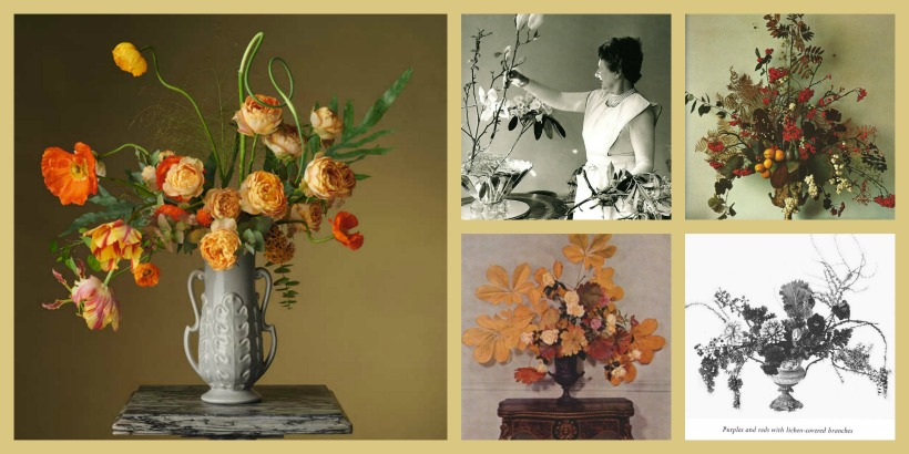 Past, Present, Future - Loewe - fotos inspiradas en arreglos florales de Constance Spry - Steven Meisel.
