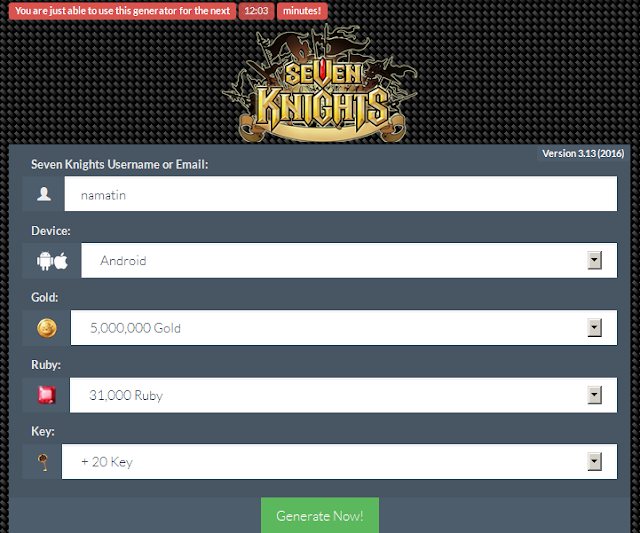 Cheat seven knight android gratis