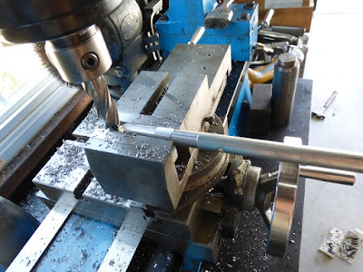 milling flats on axle