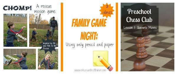 Preschool Game Ideas