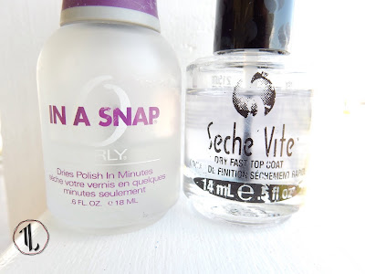 Orly 'In A Snap' and Seche Vite top coats - www.modenmakeup.com