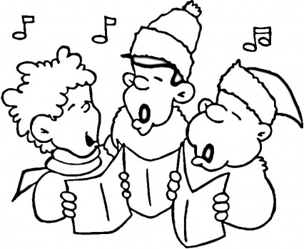 child singing coloring pages - photo#15