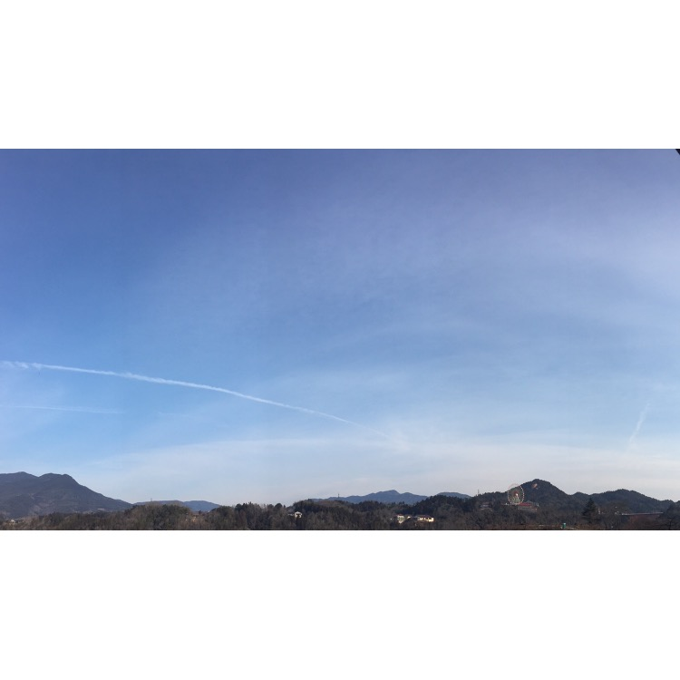 科学する空: 春空の元、上部タンジェントアーク