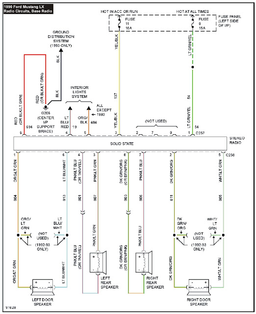1990 Mustang System Wiring Diagrams Radio Circuits, Base