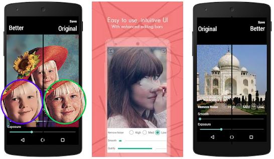 تطبيق إزالة الحبوب من الوجه و التشويش من الصور على اندرويد