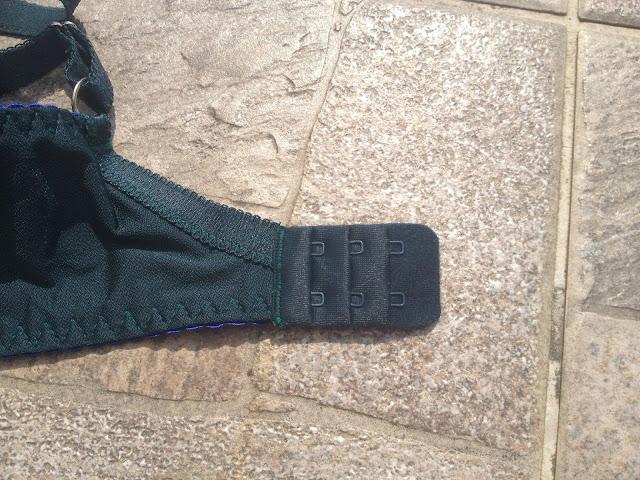 zielony haftowany biustonosz ava hailey side support