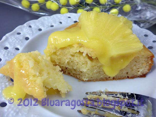 torta all'ananas con curd di ananas