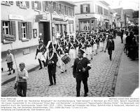 """Erster Auftritt, anlässlich des zehn jährigen Stiftungsfestes der Vereinigung """"Alt Weinheim"""" am 5.7.1931"""