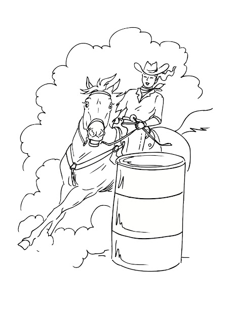 Photo Of Horse Coloring Page