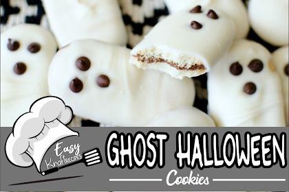 Ghost Halloween Cookies #Halloween #cookies