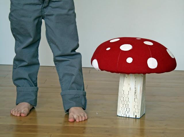 Mushroom Stool - Running with Scissors
