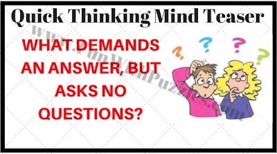 Quick Thinking Mind Teaser