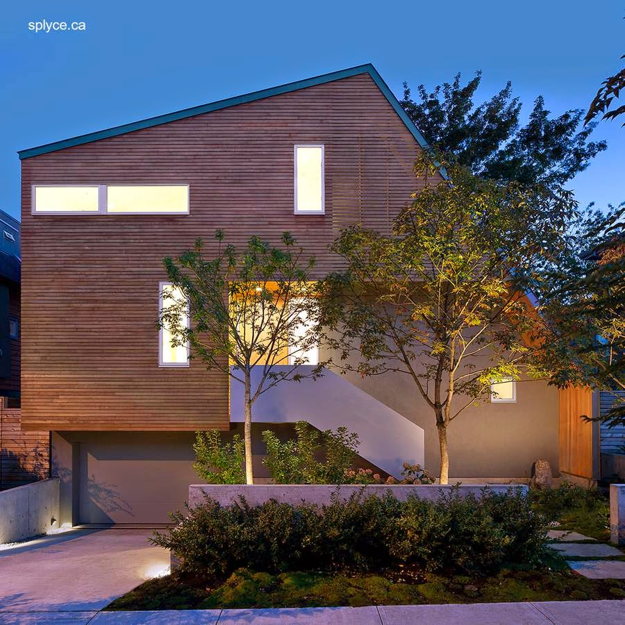 Casa residencial contemporánea de madera en Vancouver Canadá