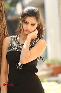Actress Poojitha Pallavi Naidu Stills in Black Short Dress at Inkenti Nuvve Cheppu Movie Platinum Disc Function  0058.JPG