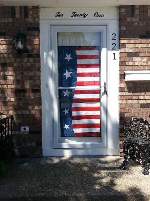 Pam's Patriotic Wave door decoration