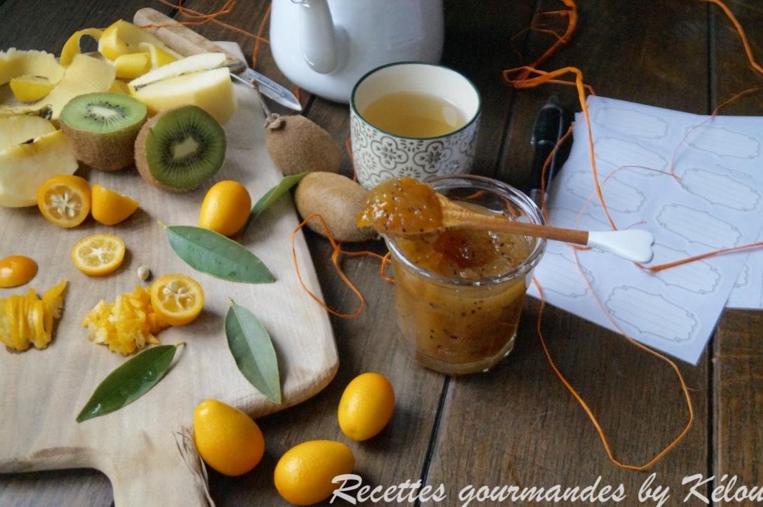 Confiture pomme,kiwi,kumquat