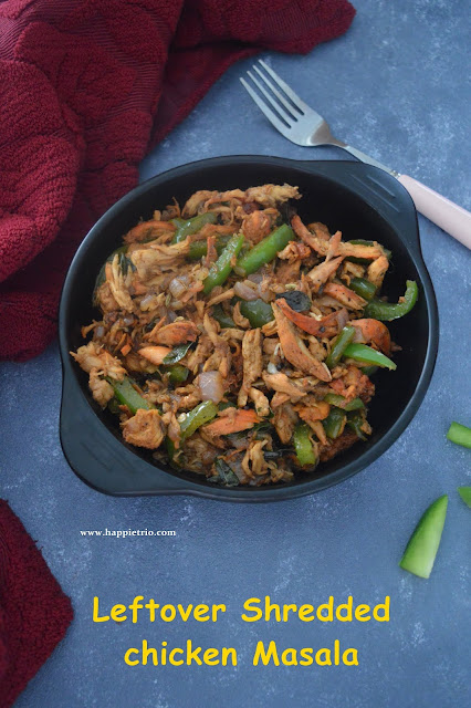 Leftover Shredded Chicken Roast | Pichupotta kozhi varual
