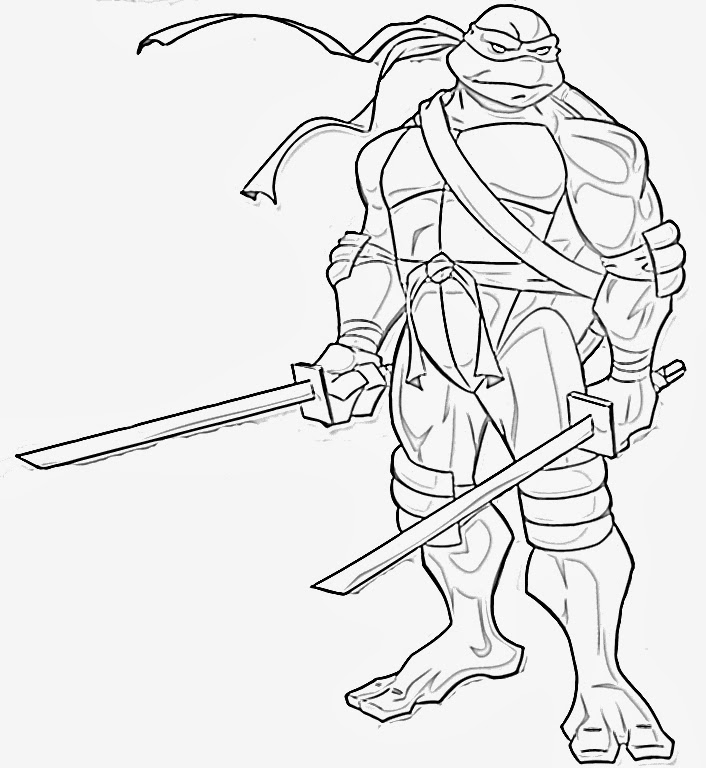 This is a picture of Free Printable Ninja Turtle Coloring Pages within pdf