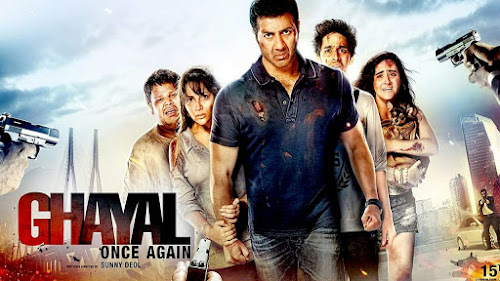 Poster Of Bollywood Movie Watch Online Ghayal Once Again 300MB DVDScr Full Movie Free Download