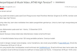 JKT48 Invite fans to participate in High Tension MV