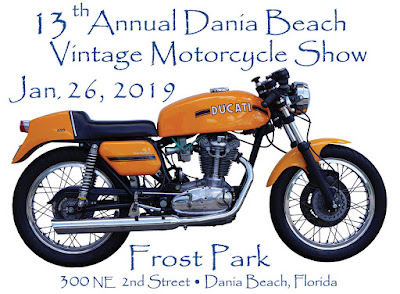 Poster for 13th Annual Dania Beach Vintage Motorcycle Show