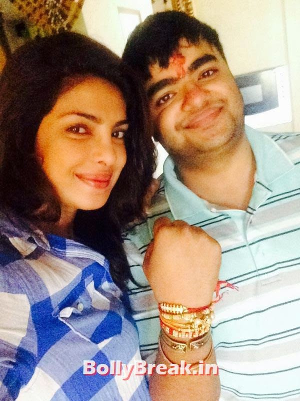 Priyanka and Siddharth Chopra, Bollywood's Raksha Bandhan Pics - 2014