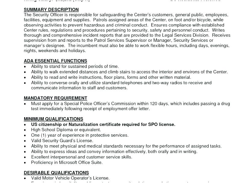 Security Guard Resume Example Examples Elegant Armed Sample Com