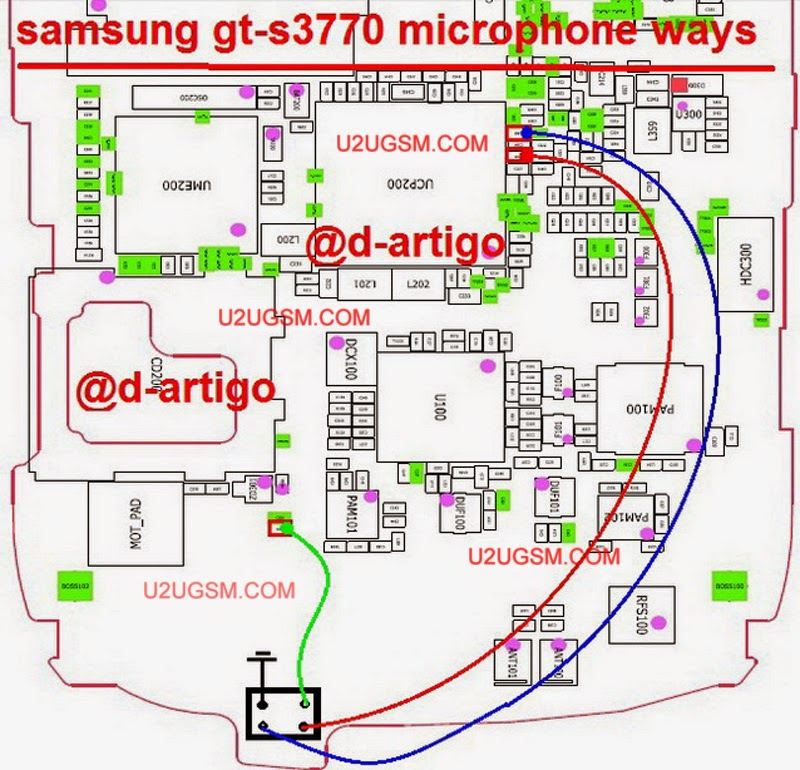 Samsung S3770 Mic Point Ways Jumper To Solve Microphone
