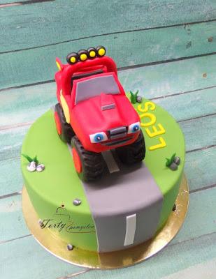 tort z jednym autem blaze i maszyny