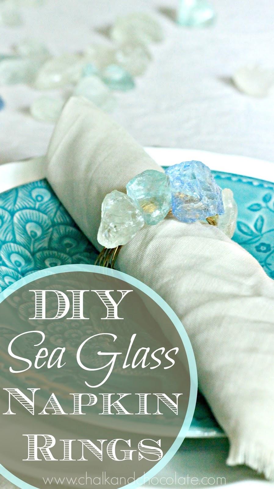 - DIY Sea Glass Napkin Rings Days Of Chalk And Chocolate