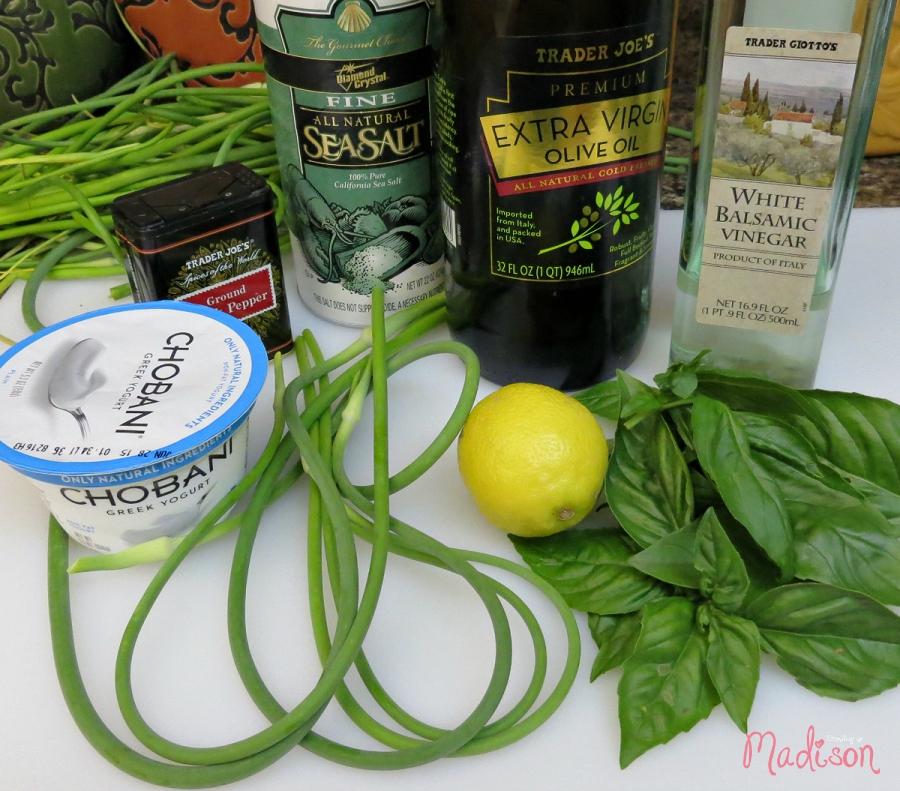 Creamy Garlic Basil Salad Dressing | AnnMarie John