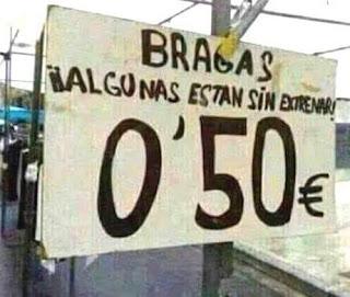 Bragas, algunas están sin estrenar, 0.5 €, mercadillo