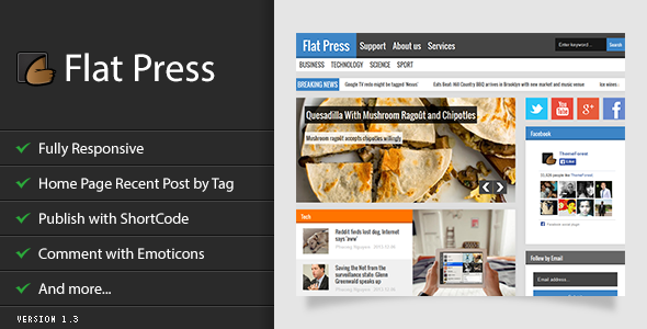 Download Free Flat Press Blogger Template