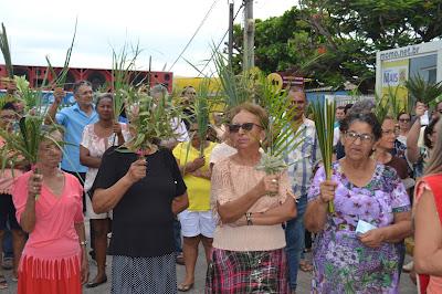 Resultado de imagem para imagens da celebração do domingo de ramos em sao paulo do potengi