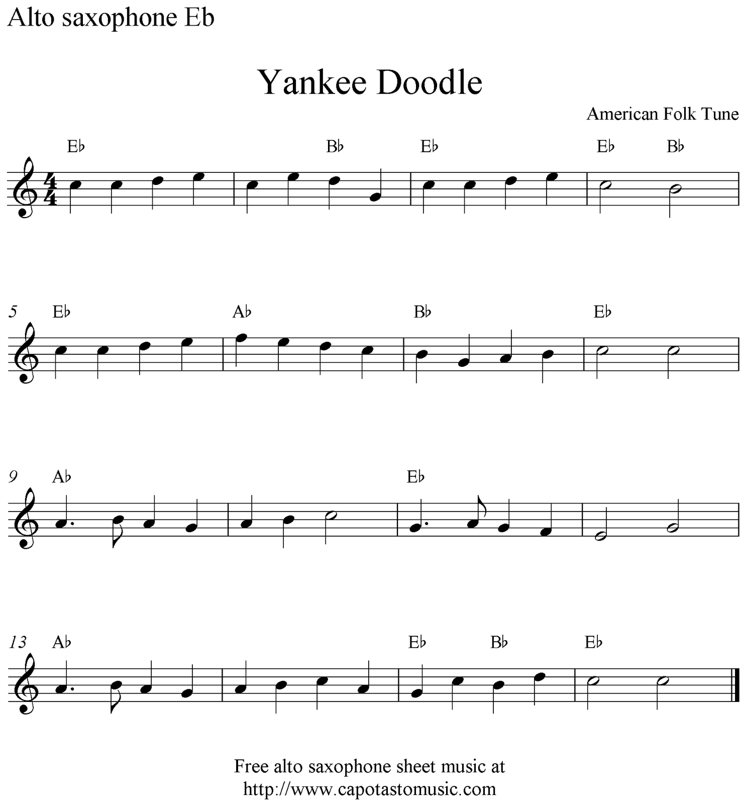 free sheet music saxophone pdf
