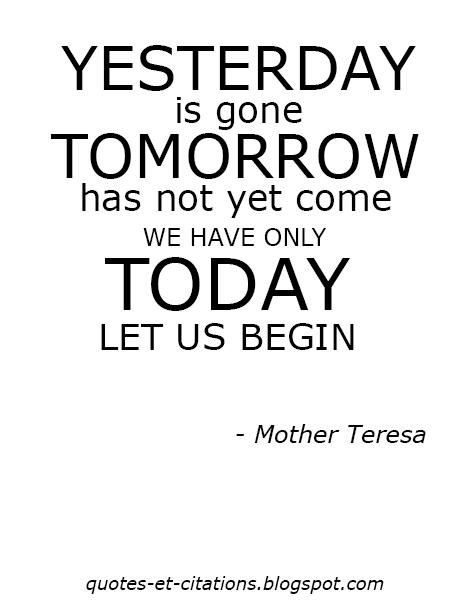 citation hier aujourd'hui et demain