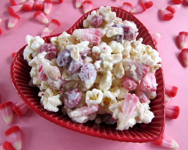 Cupid Crunch - no-bake Valentine's treat! Great for gifts! Everyone gobbles this up! So quick and easy!