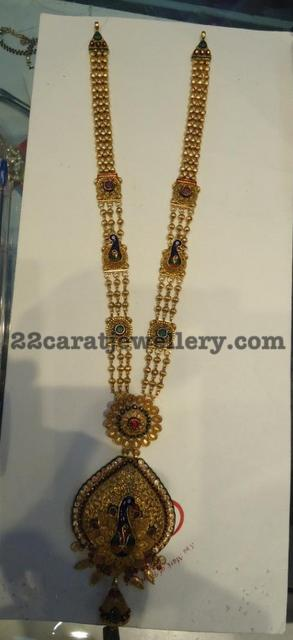 Light Weight Haram And 60 Grams Bangles Jewellery Designs