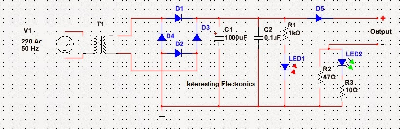 fig: mobile phone charger circuit
