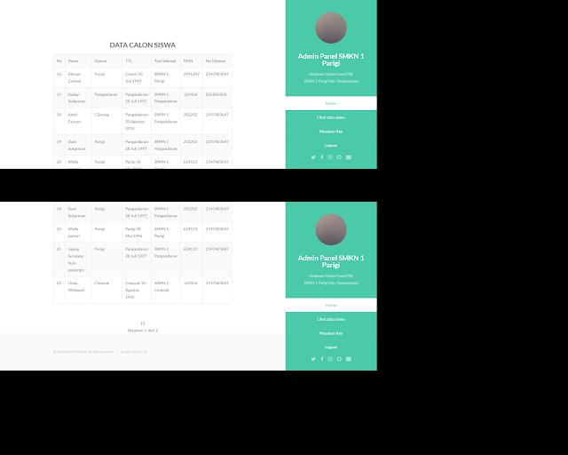 Aplikasi Penerimaan Siswa Baru Online- PSB menggunakan PHP mysql