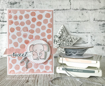 Sweet Baby Elephant Card - buy Stampin' Up! UK here